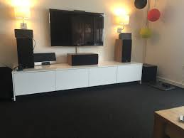 fridge top cabinets hacked into tv console ikea hackers ikea