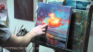 painting demo neon sky study 2 youtube