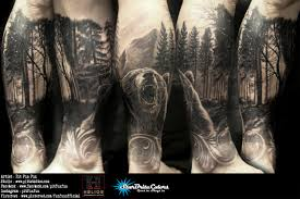 100 forest tattoo arm 25 trending bear tattoos ideas on