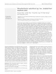 microbiology society journals mesoflavibacter sabulilitoris sp