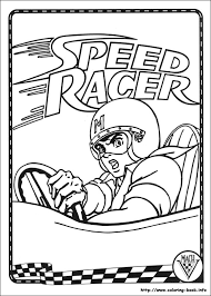 racer coloring picture