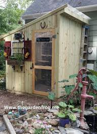 diy garden shed from picket fence hometalk