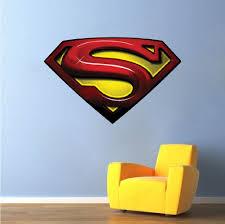 superman decal mural super heroes wall decals primedecals home shop wall decals teens superman decal mural