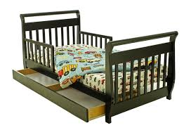 Single Sleigh Bed Bedroom Traditional Espresso Finish Kids Single Bed With Storage
