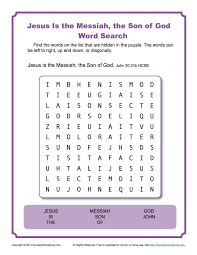 thanksgiving word search worksheets jesus is the messiah word search sunday activities