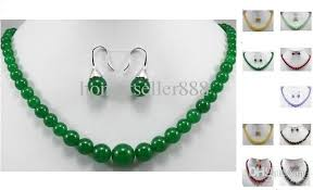 green agate necklace images Online cheap hot sell 6 14mm green red purple yellow jade tiger jpg