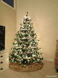 green tree with gold decorations cheminee website