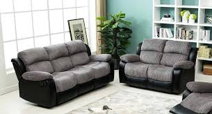 Two Tone Reclining Sofa Fabric Recliner Sofa Chatel Co