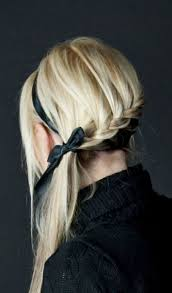 hair braid across back of head braided hair being drawn across back of head to one side hair