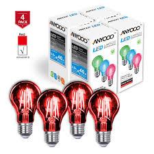 anyqoo anyqoo a19 led filament edison bulb flickering light