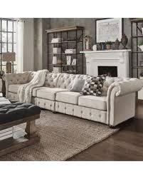 Beige Tufted Sofa by Amazing Deal On Knightsbridge Beige Linen Oversize Extra Long