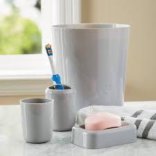 Gray Bathroom Accessories Set by Mainstays 4 Piece Bath Accessories Set Walmart Com