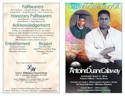 milwaukee funeral homes timothy dubose 8x11 obit program by milwaukee times news issuu