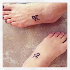 i love you sign tattoos on feet