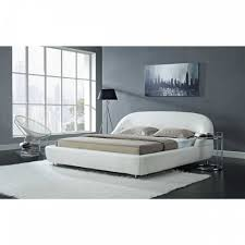 100 white leather bedroom set vilenno queen size modern style