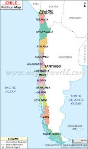chile physical map chile