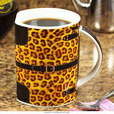 handbag purse leopard spots mug novelty coffee mugs for her