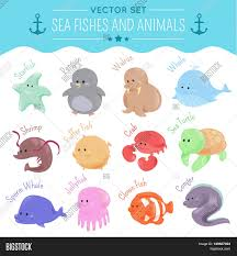 sea fishes animals depicting image u0026 photo bigstock