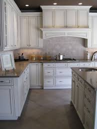 White Cabinets Kitchens Antique White With Pewter Glaze For The Home Pinterest