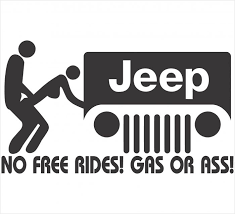 jeep decals no free rides jeep decal
