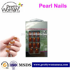 excellence nail design pearl effect nails metal color fake nails