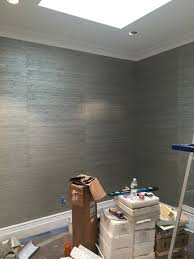 do the seems on this grasscloth wallpaper by pacific designs look off