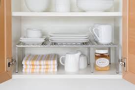 seville classic expandable kitchen counter u0026 cabinet shelf storage