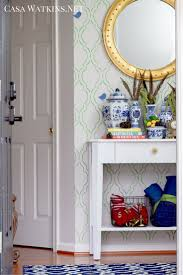 Blue Entryway Table by Winter Home Tour Part One Casa Watkins Living