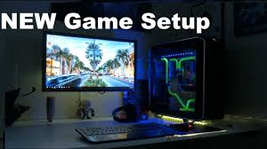 my desk game setup 2016 uv stuff 4k youtube