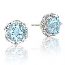 blue topaz stud earrings tacori island rains earrings