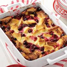 best cranberry recipes thanksgiving cranberry bread pudding recipe taste of home