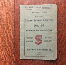 an original singer sewing manual for the singer sewing machine