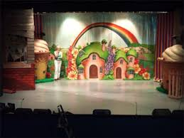 munchkinland backdrop theater backdrops