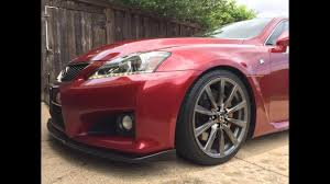 lexus is250 f sport front lip lexus isf gets bc coilovers u0026 front lip youtube