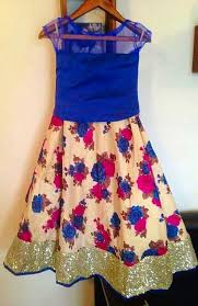 Latest Kids Floral Dress And Half Sarees Youtube