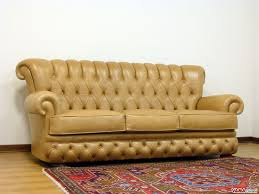Aged Leather Sofa Buttoned Leather Sofa In The Chesterfield Style