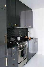 kitchen wall cabinets black gloss 25 ways to style grey kitchen cabinets