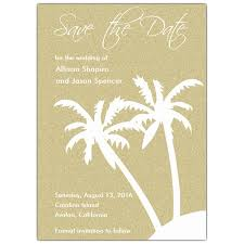 save the date cards beach palms paperstyle