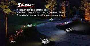 Solar Lights For Driveway by Amazon Com Solar Deck Light Solmore Led Solar Dock Path Road