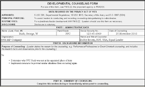 Da Form 4856 Initial Counseling Fillable Da 4856 Da Form 4856 Army Counseling Form Da 4856 Exle