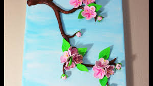 sakura cherry blossom 3d canvas art spring crafts home decor youtube