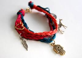 braided bracelet with charms images Diy braided charm bracelet we heart this jpg