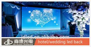 wedding backdrop led indoor usage smd p6 wedding hotel stage backdrop led wall