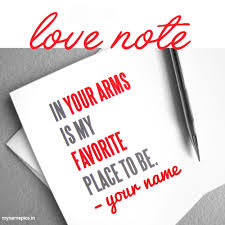 write your name on love letter profile picture