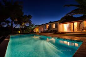 exterior awesome twilight house with twilight pool and house