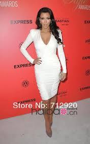 white long sleeve pencil dress