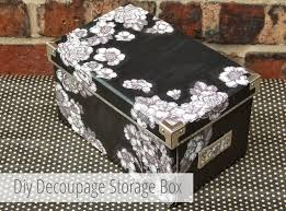 Decoupage Box Ideas - diy decoupage storage boxes gathering