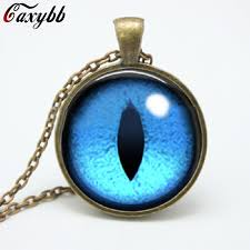 blue glass pendant necklace images 2015 blue dragon eye necklace jewelry photo glass pendant necklace jpg