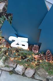 diy outdoor plywood holiday trees decor adventures