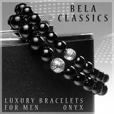 mens luxury bracelet images Men 39 s luxury bracelet b10 onyx and sterling silver bela classics jpg